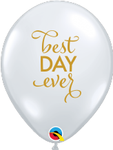 Simply Best Day Ever Balloons (Clear) - 11 Inch Balloons 25pcs